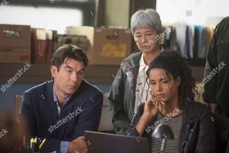 Stock Image of Jerry O'Connell as Harley Carter, Brenda Kamino as Dot Yasuda, Sydney Tamiia Poitier as Sam Shaw