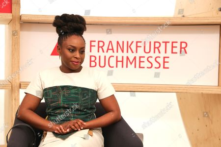 Author Chimamanda Ngozi Adichie look on during the opening press conference of the book fair 'Frankfurter Buchmesse 2018' in Frankfurt Main, Germany, 09 October 2018. The 70th edition of the international Frankfurt Book Fair, described as the 'world's most important fair for the print and digital content business' runs from 10 to 14 October 2018 and gathers authors, writers and celebrities from all over the world. This year's Guest of Honour country is Georgia.