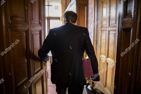 Dutch Democrats 66 (D66) party leader Alexander Pechtold during his last day in the Senate, in The Hague, The Netherlands, 09 October 2018. Pechtold announced on 06 October, his resignation as D66 leader and from the parliament.