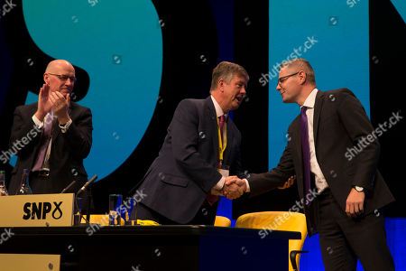 John Swinney, Deputy First Minister and Cabinet Secretary for Education and Skills, Keith Brown, Depute Leader of the SNP (Scottish National Party) and Cabinet Secretary for Economy, Jobs and Fair Work, and Derek Mackay, Cabinet Secretary for Finance, Economy and Fair Work