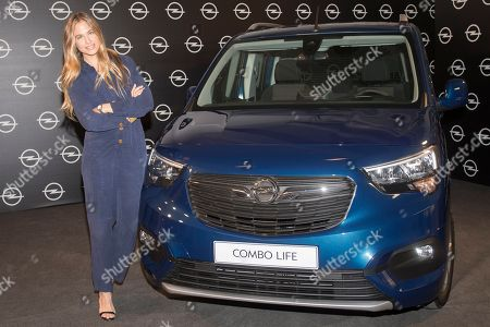 Stock Picture of Spanish top model Martina Klein promotes new Opel 'Combo Life'