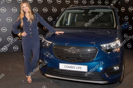 Stock Image of Spanish top model Martina Klein promotes new Opel 'Combo Life'