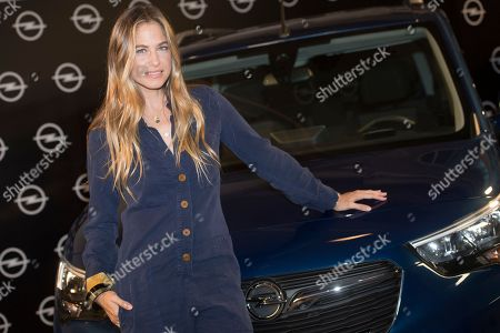 Stock Photo of Spanish top model Martina Klein promotes new Opel 'Combo Life'