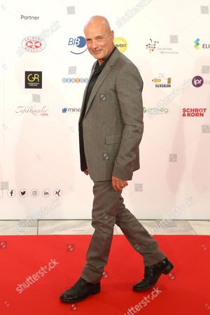 German actor Christian Berkel arrives at the red carpet of the book fair 'Frankfurter Buchmesse 2018' in Frankfurt am Main, Germany, 09 October 2018. The 70th edition of the international Frankfurt Book Fair, described as the 'world's most important fair for the print and digital content business' runs from 10 to 14 October and gathers authors, writers and celebrities from all over the world. This year's Guest of Honour country is Georgia.