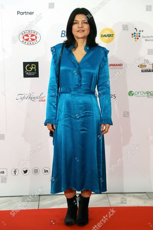 German actress Jasmin Tabatabai arrives at the red carpet of the book fair 'Frankfurter Buchmesse 2018' in Frankfurt am Main, Germany, 09 October 2018. The 70th edition of the international Frankfurt Book Fair, described as the 'world's most important fair for the print and digital content business' runs from 10 to 14 October and gathers authors, writers and celebrities from all over the world. This year's Guest of Honour country is Georgia.