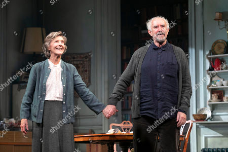Eileen Atkins (Madeline) and Jonathan Pryce (Andre) during the curtain call