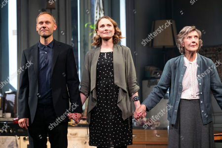 James Hillier (The Man), Anna Madeley (Elise), Jonathan Pryce (Andre) and Eileen Atkins (Madeline) during the curtain call