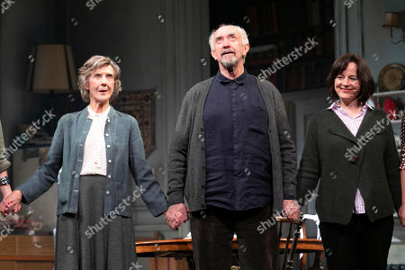 Eileen Atkins (Madeline), Jonathan Pryce (Andre) and Amanda Drew (Anne) during the curtain call