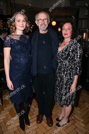 Anna Madeley (Elise), Jonathan Pryce (Andre) and Lucy Cohu (The Woman)