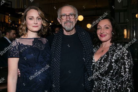 Stock Photo of Anna Madeley (Elise), Jonathan Pryce (Andre) and Lucy Cohu (The Woman)