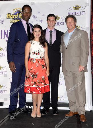 Stock Image of Quentin Oliver Lee, Eva Tavares, Jordan Craig, ? Auggie Cipollini, President of Seminole Hard Rock Hotel & Casino