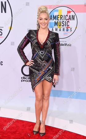 Erika Jayne, Erika Girardi. Erika Jayne arrives at the American Music Awards, at the Microsoft Theater in Los Angeles