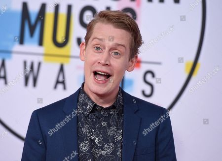Macaulay Culkin arrives at the American Music Awards, at the Microsoft Theater in Los Angeles