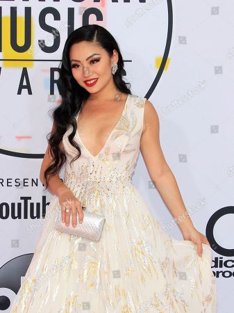 Chinese-American cellist Tina Guo arrives for the 2018 American Music Awards at the Microsoft Theater in Los Angeles, California, USA, 09 October 2018.
