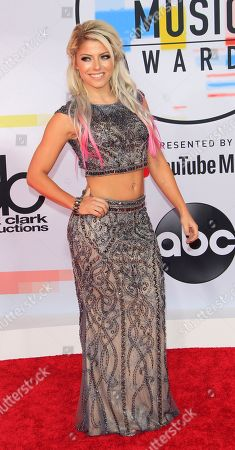 US professional wrestler Alexa Bliss arrives for the 2018 American Music Awards at the Microsoft Theater in Los Angeles, California, USA, 09 October 2018.