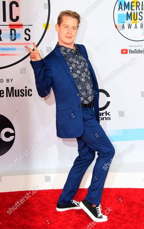 US actor Macaulay Culkin arrives for the 2018 American Music Awards at the Microsoft Theater in Los Angeles, California, USA, 09 October 2018.