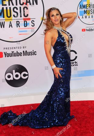 US professional wrestler Mickie James arrives for the 2018 American Music Awards at the Microsoft Theater in Los Angeles, California, USA, 09 October 2018.