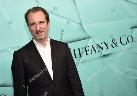 Stock Image of Tiffany & Co. CEO Alessandro Bogliolo attends the Tiffany & Co. 2018 Blue Book Collection: The Four Seasons of Tiffany celebration at Studio 525, in New York