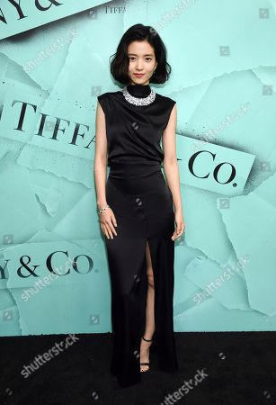 Korean actress Kim Tae Ri attends the Tiffany & Co. 2018 Blue Book Collection: The Four Seasons of Tiffany celebration at Studio 525, in New York
