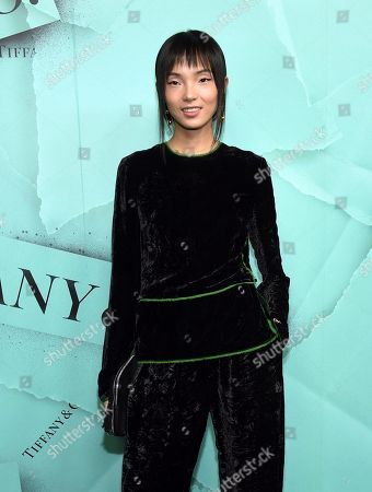 Xiao Wen Ju attends the Tiffany & Co. 2018 Blue Book Collection: The Four Seasons of Tiffany celebration at Studio 525, in New York