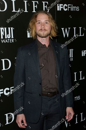 "Stock Image of Lou Taylor Pucci attends the LA Premiere of ""Wildlife"" at the ArcLight Hollywood, in Los Angeles"