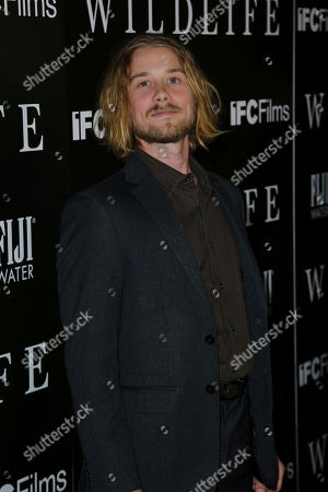 "Stock Picture of Lou Taylor Pucci attends the LA Premiere of ""Wildlife"" at the ArcLight Hollywood, in Los Angeles"
