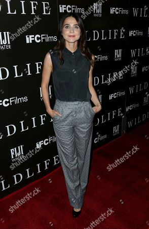 """Stock Image of Maya Kazan attends the LA Premiere of """"Wildlife"""" at the ArcLight Hollywood, in Los Angeles"""