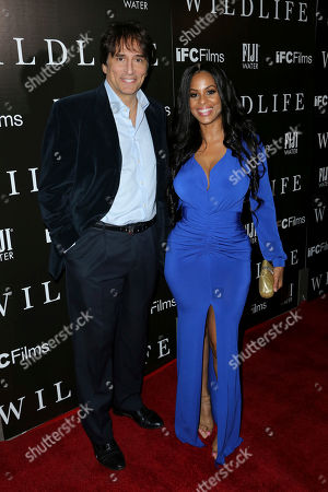 """Vincent Spano, Carolina Catalino. Vincent Spano, left, and Carolina Catalino attend the LA Premiere of """"Wildlife"""" at the ArcLight Hollywood, in Los Angeles"""