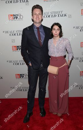 "Jordan Klepper, Laura Grey. Jordan Klepper and Laura Grey attend the ""If Beale Street Could Talk"" premiere during the 56th New York Film Festival at the Apollo Theater, in New York"