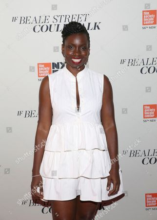 "Adepero Oduye attends the ""If Beale Street Could Talk"" premiere during the 56th New York Film Festival at the Apollo Theater, in New York"