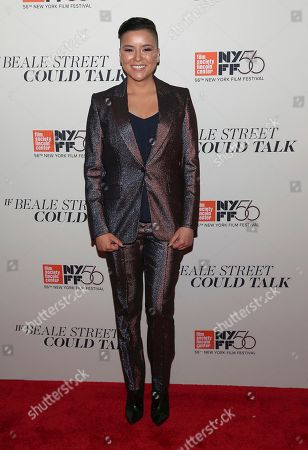 """Stock Picture of Emily Rios attends the """"If Beale Street Could Talk"""" premiere during the 56th New York Film Festival at the Apollo Theater, in New York"""