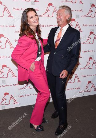 Brooke Shields and David Kratz