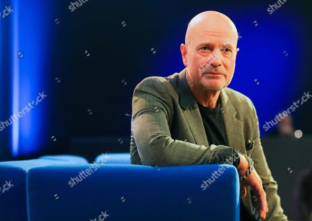 German actor and writer Christian Berkel speaks at the authors' forum 'Blue Sofa' during the book fair 'Frankfurter Buchmesse 2018', in Frankfurt am Main, Germany, 10 October 2018. The 70th edition of the international Frankfurt Book Fair, described as the 'world's most important fair for the print and digital content business' runs from 10 to 14 October and gathers authors, writers and celebrities from all over the world. This year's Guest of Honour country is Georgia.