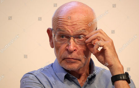 German investigative journalist and writer Guenter Wallraff attends the panel discussion 'The free word under pressure? Self-censorship in Germany' during the book fair 'Frankfurter Buchmesse 2018', in Frankfurt am Main, Germany, 10 October 2018. The 70th edition of the international Frankfurt Book Fair, described as the 'world's most important fair for the print and digital content business' runs from 10 to 14 October and gathers authors, writers and celebrities from all over the world. This year's Guest of Honor country is Georgia.