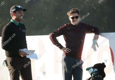 Niall Horan and Charl Schwartzel at the Pro-Am