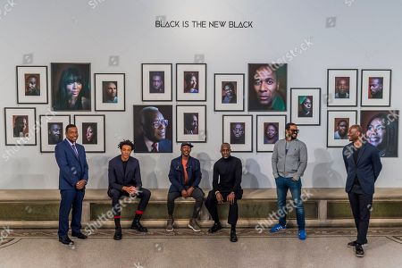 Terry Jervis, Charlie Casely-Hayford, Shevell Dynott, Simon Frederick (artist), Noel Clarke and Ekow Eshun - Black is the New Black: Portraits by Simon Frederick at National Portrait Gallery, London, the Gallery's largest acquisition of portraits of Afro-Caribbean (on display until 27 January 2019).
