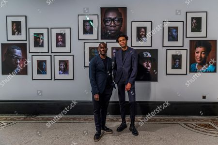 Ekow Eshun and Charlie Casely-Hayford - Black is the New Black: Portraits by Simon Frederick at National Portrait Gallery, London, the Gallery's largest acquisition of portraits of Afro-Caribbean (on display until 27 January 2019).