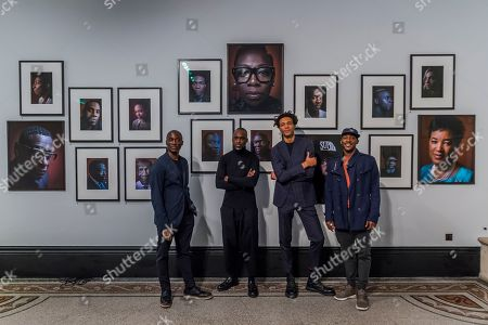 Ekow Eshun, Simon Frederick (artist), Shevelle Dynott and Charlie Casely-Hayford - Black is the New Black: Portraits by Simon Frederick at National Portrait Gallery, London, the Gallery's largest acquisition of portraits of Afro-Caribbean (on display until 27 January 2019).