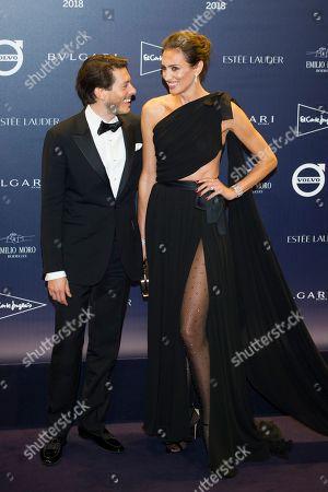 Nieves Alvarez and designer Edgardo Osorio