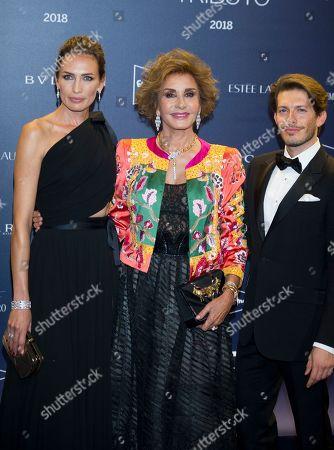 Nieves Alvarez, Naty Abascal and designer Edgardo Osorio