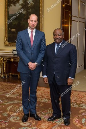 Prince William meets President of Gabon Ali Bongo Ondimba for a bilateral meeting at Buckingham Palace