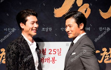 Stock Picture of Jang Dong-gun and Hyun Bin
