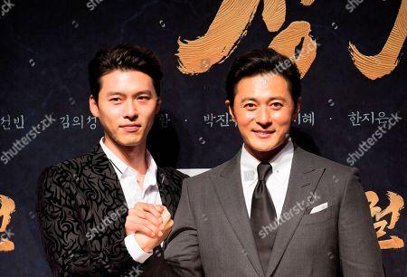 Stock Photo of Jang Dong-gun and Hyun Bin