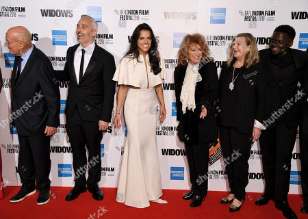 Arnon Milchan, Iain Canning, Michelle Rodriguez, Lynda La Plante, Ann Mitchell and Daniel Kaluuya