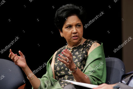 Stock Picture of Former PepsiCo CEO Indra Nooyi participates in an event in New York