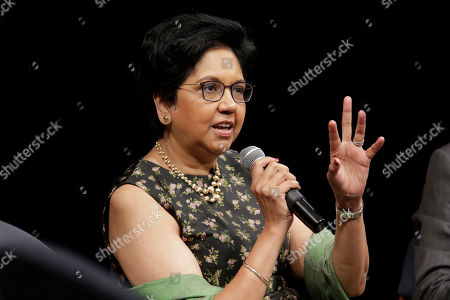 Former PepsiCo CEO Indra Nooyi participates in an event in New York