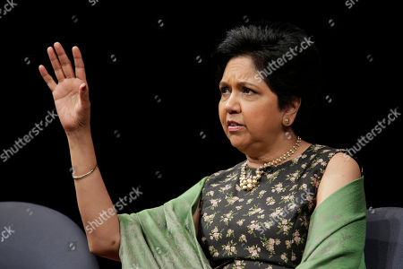Stock Photo of Former PepsiCo CEO Indra Nooyi participates in an event in New York