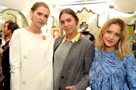 Sabrina Percy, Amber Le Bon and Tess Ward