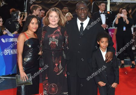 Stock Picture of Steve McQueen, Bianca Stigter and children Alex and Dexter