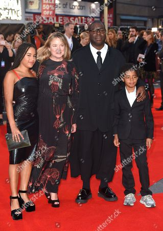 Stock Photo of Steve McQueen, Bianca Stigter and children Alex and Dexter